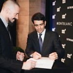 CEO Montblanc International Jerome Lambert and Hugh Jackman - Montblanc EXTREME collection launch event Florence Firenze 9 July 2014-1