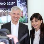 Andrea Illy e Debora Serracchiani (Presidente Regione Autonoma Friuli-Venezia Giulia)