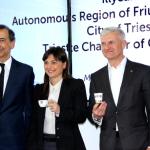 Giuseppe Sala, Debora Serracchiani e Andrea Illy