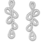 Montblanc Princess Grace earrings in white gold and diamonds