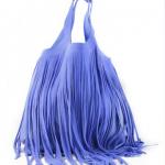 Olivia Fringes Bag Blu