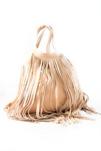 Olivia Fringes Bag Cipria