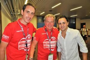 Picler Esteban Bueno e Felipe Massa