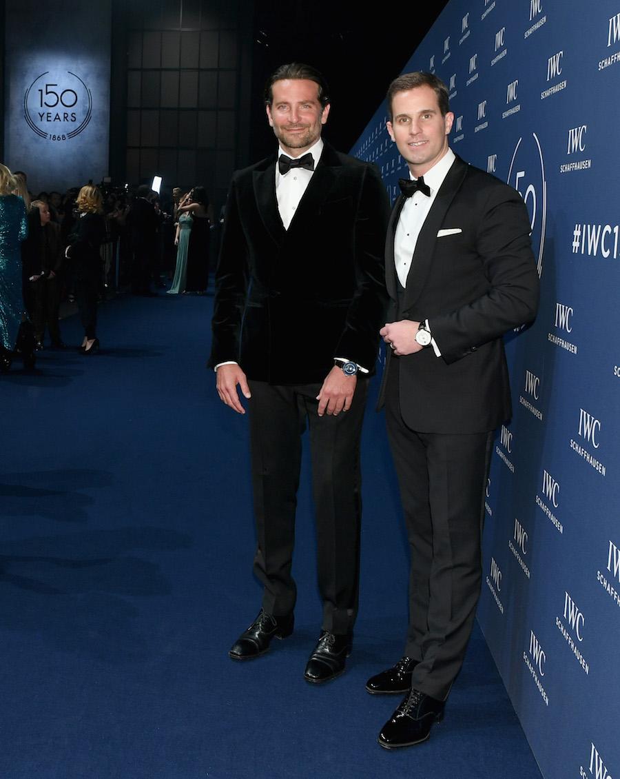 Bradley Cooper and IWC Schaffhausen CEO Christoph Grainger-Herr