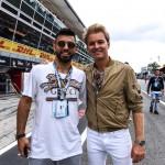 Sergio Aguero e Nico Rosberg