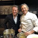 Chef Filippo Lamantia e Giorgio Caire di Lauzet