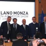 Dario Allevi, Attilio Fontana, Angelo Sticchi Damiani, Andrea Levy e Andrea Cardinali