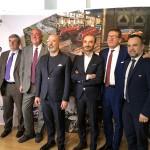 Gian Carlo Muzzarelli, Marco Bruschini, Renzo Servadei, Stefano Bonaccini, Emanuele Burioni e Claudio Domenicali