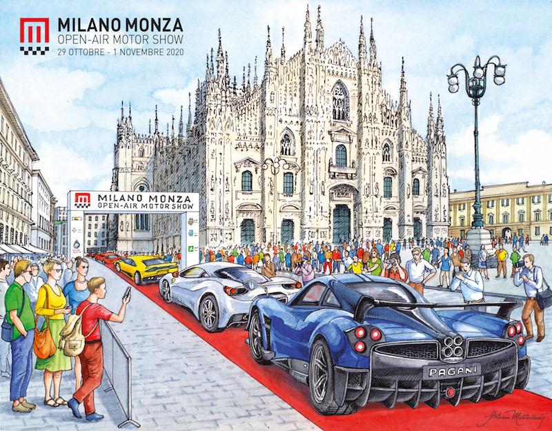milano monza motor show piazza duomo